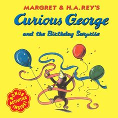 A Curious George paperback book. When the man with the yellow hat tells George that he is planning a surprise, of course George is curious. Before long George figures out it must be a birthday. But whose birthday is it? Birthday Party Planner, Birthday Book, Birthday Fun, First Birthday Parties, First Birthdays, Birthday Ideas, Third Birthday, Monkey Birthday, Wiggles Birthday