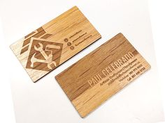 Laser Cut Business Cards - Proper Recognition