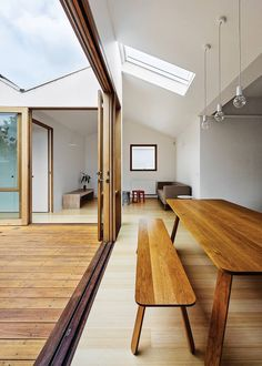 Beautiful indoor outdoor connection - Natural lighting + Wood