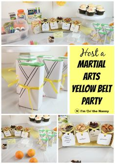 Celebrate your kids' martial arts belt promotion with a celebration! Super easy karate party ideas for yellow belt, red belt or more! [AD] #Healthy4School @walmart
