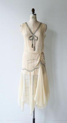 Items similar to Light Fantastic silk dress Wedding Dress Silk, Wedding Dress Tea Length, Retro Wedding Dresses, Vintage Dresses, Nice Dresses, Vintage Outfits, Vintage Fashion, 20s Dresses, Flapper Dresses