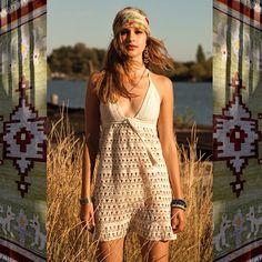 annakosturova:  @alexiafast in #annakosturova #crochet #boho #dress! My #coachella outfit candidate! #handmade
