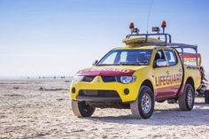 Lifeguard Vehicle on the Beach by Fresh Design Elements on Creative Market