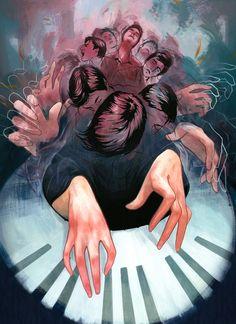 Rachel Idzerda Illustration Blog: Piano Man