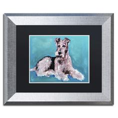 'Artful Airedale' by Lowell S.V. Devin Giclée Framed Painting Print