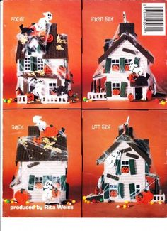 Download Plastic Canvas Patterns holiday themed halloween | HAUNTED HOUSE HALLOWEEN PARTY - Plastic Canvas Pattern Book ...