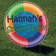 Add this 23 inch Swim Ring Yard Sign to your pool party supplies!  The Swim Ring Yard Sign will show your guests where the swimming party is.