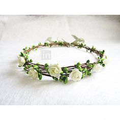 Floral Crown, Ivory Flower Headband, Floral Head Wreath, Wedding Headband, Bridesmaid Flower Crown, Flower Girls Flow - GBP £7.91 ! HOT Product! A hot product at an incredible low price is now on sale! Come check it out along with other items like this. Get great discounts, earn Rewards and much more each time you shop with us!