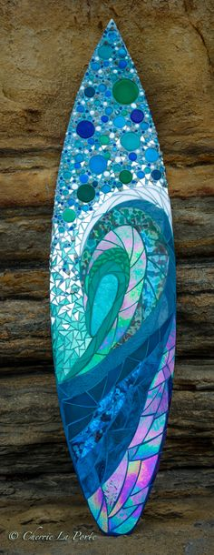 The Vertical Wave Glass Surfboard for my client in Del Mar CA!  Fun one to make!