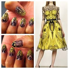 naominailsnyc:  Alexander McQueen Nails.Breathtakingly gorgeous.
