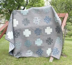 Greek Cross Quilt by Rachel @ liketosew.blogspot.com, via Flickr