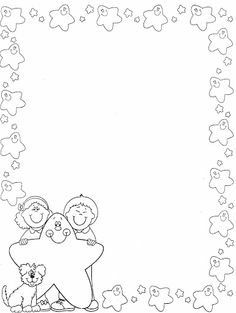 Boy and girl star stationary