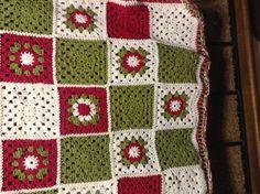 Crochet, granny squares.  Looks like Christmas to me...