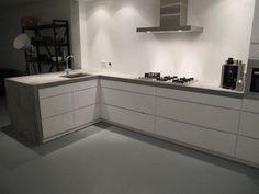 keuken met hoek beton - Google zoeken