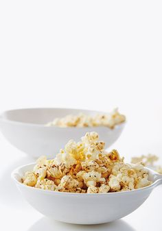 Air-pop your corn and then make a topping from melted coconut oil. It adds a subtle, wonderfully addictive flavor that many people can't quite put their finger on—and you can use way less oil than they do in theaters. Along with sugar, cayenne and sea salt, it's one of the tastiest iterations of the snack we've ever had.