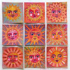Sun Drawing, Solar System Crafts, Green Witchcraft, School Auction, School Fundraisers, Sun Art, Beltane, Summer Solstice, Happy Summer