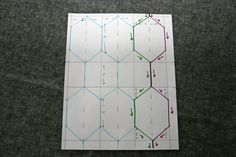 FITF: Elongated Hexagon/Honeycomb quilting – a tutorial | Film in the Fridge
