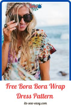 Let yourself loose this summer with a one of a kind Bora Bora wrap dress. This Bohemian Rhapsody wrap dress filled with bold colors is perfect for summer wear especially for long strolls along the beach. Other than the list of items you need to make the dress, the pattern also lists all the measurements you need together with a collection of illustrations to help you get every cut right. #freesewingpatterns#easydresspatterns#dresssewingpatterns#dresspatterns#summerdresspatterns#sewingathome Beginner Sewing Patterns, Sewing Basics, Sewing For Beginners, Free Sewing, Lining Fabric, Chiffon Fabric, Bora Bora, Summer Wear, Bold Colors