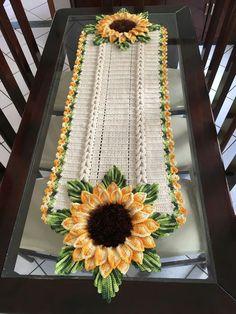 Caminho de mesa com jirasol