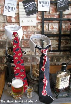 The HumbleNest of Mrs. V: DiY Dressing hurricanes for father's day ; Fathers Day Brunch, Fathers Day Weekend, Masculine Centerpieces, Mother And Father, Father Sday, Party Centerpieces, Table Decorations, Rocket Kits, Sugar Free Jello