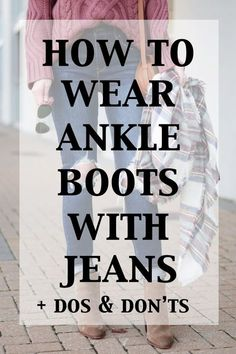 Ankle boots are my JAM. Sometimes they can be tricky though so today I am breaking down how to wear ankle boots with jeans. So much info in this post! con botines How to Wear Ankle Boots with Jeans - The Dos & Don'ts - Straight A Style Looks Chic, Looks Style, Style Me, Classic Style, Style Star, Trendy Style, Women's Style Tips, Style Blog, Style Ideas
