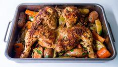 poulet rôti et aplati