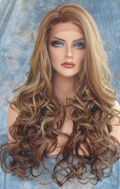 Lace Front Wig COLOR FS8.27.613 LONG FLOWING SOFT WAVES SEXY  USA SELLER 170 #SEPIA #LaceFront