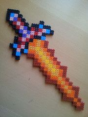 Terraria Fiery Greatsword (oulosvie) Tags: beads hama perler flickrandroidapp:filter=none