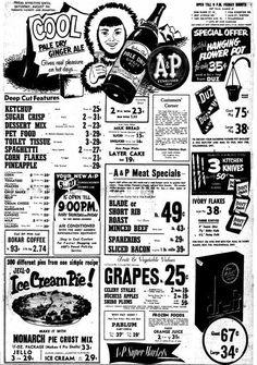 Retro Ads, Vintage Advertisements, Vintage Ads, Vintage Posters, Vintage Stuff, Supermarket Sweep, Grocery Ads, Old Country Stores, Store Ads