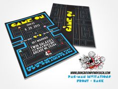 And this retro-inspired version that Pac Man would definitely approve of: | 18 Wedding Invitations That Will Make Your Inner Nerd Insanely Happy