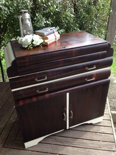 Shabby chic art deco side board/drinks cabinet. Pickup Marshall Geelong 3216. More furniture available @ www.facebook.com/groups/VintageReclaimed
