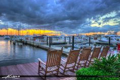 Sunset Marina at Stuart with Rocking Chairs