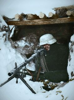 MG-34 nest in Soviet Winter