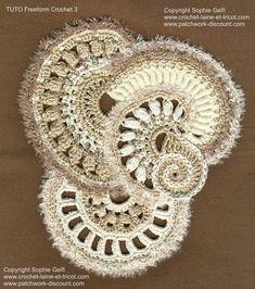Mostly I fell that freeform crochet lacks restraint, but this is beautiful. Sophie Gelfi Crochet Freeform Tutoriel 3