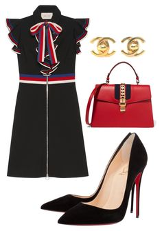 """""""Untitled #389"""" by jaayytoriii ❤ liked on Polyvore featuring Gucci, Christian Louboutin and Chanel"""