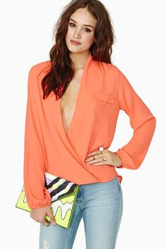 Chandler Wrap Blouse