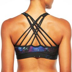 e309cb49f9 CALIA by Carrie Underwood Women s Inner Power Strappy High Neck Printed Sports  Bra