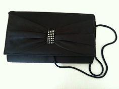 Vintage Black Purse Clutch Handbag by GrandmomsPennies on Etsy, $12.00
