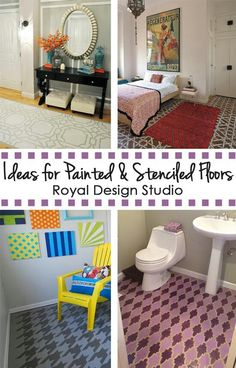 Ideas for Painted & Stenciled Floors - Royal Design Studio