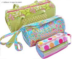 Barrel Bags Pattern by 4girlsdesigns + Free Bonus Pleated Purse Tutorial - can't wait to try this
