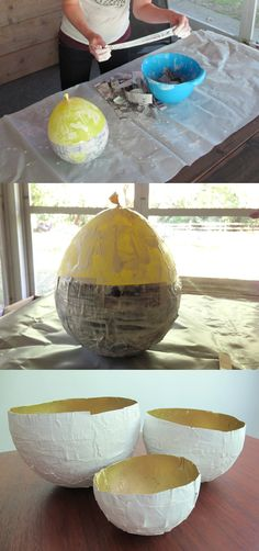 DIYNetwork: How to make paper bowls using balloons! #balloons #diy