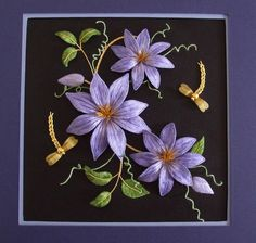 Alison Cole embroidery kit Rambling Clematis