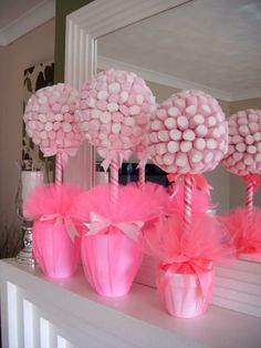 Incredibly Lovable Valentine's Day Party Decoration Ideas is part of Baby shower Having a decoration dilemma for your Valentine's Day Party Try unique and easy Valentine's Day party decor - Shower Party, Baby Shower Parties, Baby Showers, Girl Birthday, Birthday Parties, Candy Trees, Candy Topiary, Sweet Trees, Ballerina Party