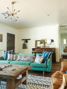 Teal perfection: http://www.stylemepretty.com/living/2015/07/08/the-prettiest-sofas-ever/