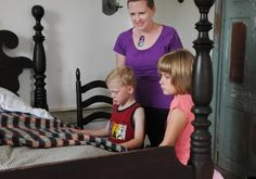 Open house at the Isaac Meier Homestead, a large limestone dwelling located along Route 501 in Myerstown. LEBANON DAILY NEWS - ASHLEY WALTER www.visitlebanoncounty.com