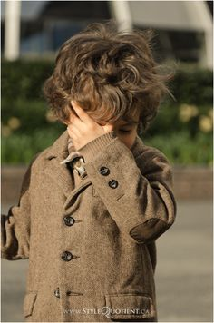 Curls and elbow patches...