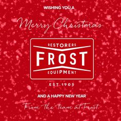 From all of us at Frost Restoration – We would like to wish you a Merry Christmas and a Happy Prosperous New Year!    #FrostRestoration #christmastime #christmastime2016 #NewYear #NewYear2017