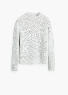 Wool-blend neck sweater - Cardigans and sweaters for Women | MANGO