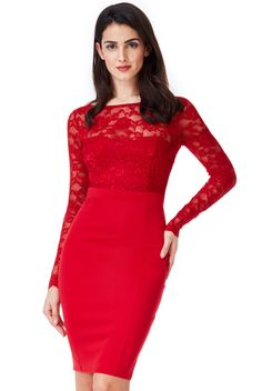 Fitted Midi Dress, Lace Dress, Bodycon Dress, Neckline, Formal Dresses, London, Fashion, Gowns, Formal Gowns