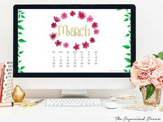 March 2016 Calendar Printable and Wallpapers - The Organized Dream